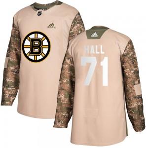 Men's Boston Bruins #71 Taylor Hall Adidas Authentic Veterans Day Practice Camo Jersey