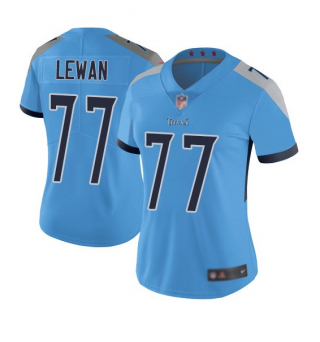 Women's Light Blue Tennessee Titans #77 Taylor Lewan Vapor Untouchable Limited Stitched Football Jersey