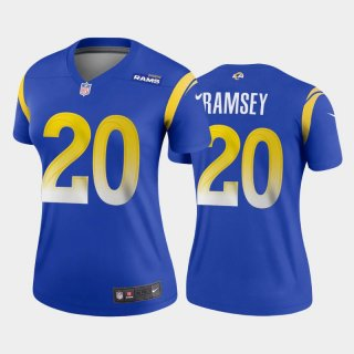 Women's Royal Los Angeles Rams #20 Jalen Ramsey 2020 Stitched Jersey