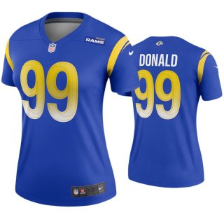 Women's Royal Los Angeles Rams #99 Aaron Donald 2020 Stitched Jersey
