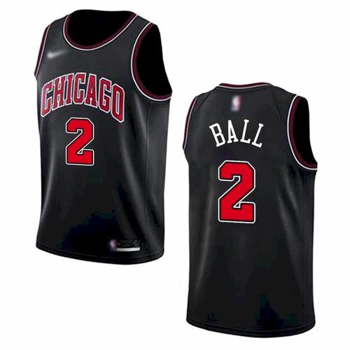 Men's Chicago Bulls #2 Lonzo Ball Black 2021 Nike Swingman Stitched Jersey