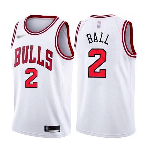 Men's Chicago Bulls #2 Lonzo Ball White 2021 Nike Swingman Stitched Jersey