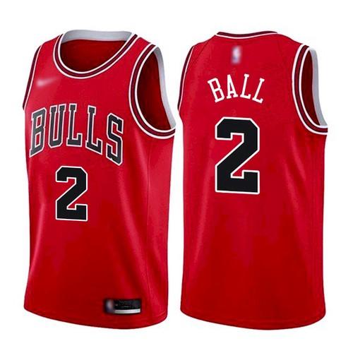 Men's Chicago Bulls #2 Lonzo Ball Red 2021 Nike Swingman Stitched Jersey