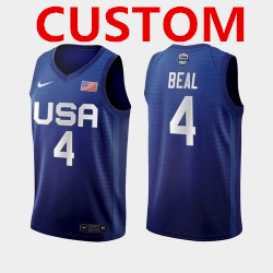 Men's USA Team Custom Away Blue 2021 Tokyo Olympics Jersey