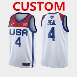 Men's USA Team Custom Home White 2021 Tokyo Olympics Jersey