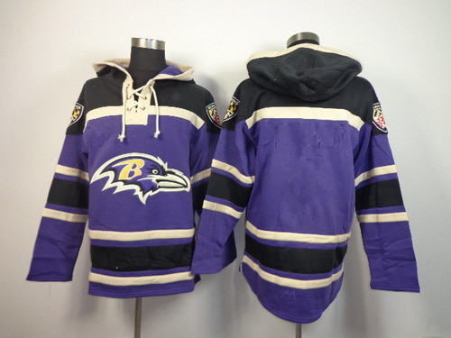 Men's Baltimore Ravens Blank Purple Hoodie