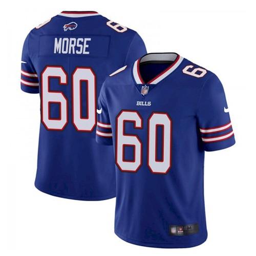 Men's Buffalo Bills #60 Mitch Morse Stitched Vapor Untouchable Limited Blue Jersey