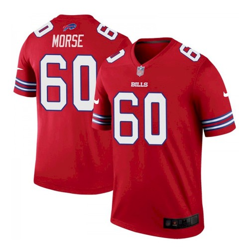 Men's Buffalo Bills #60 Mitch Morse Stitched Vapor Untouchable Limited Player Red Jersey