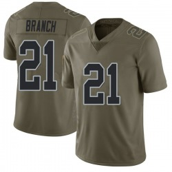 Men's Las Vegas Raiders #21 Cliff Branch Limited Green 2017 Salute to Service Jerse