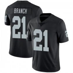 Men's Las Vegas Raiders #21 Cliff Branch Black Vapor Untouchable Stitched NFL Nike Limited Jersey