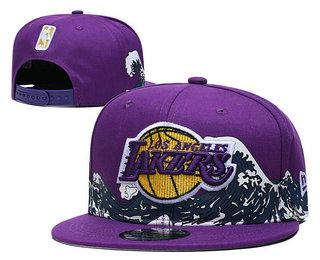 Men's Los Angeles Lakers Snapback Ajustable Cap Hat YD