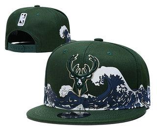 Milwaukee Bucks Snapback Ajustable Cap Hat YD