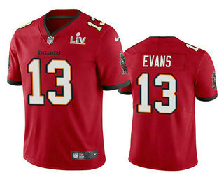 Men's Tampa Bay Buccaneers #13 Mike Evans Red 2021 Super Bowl LV Vapor Untouchable Stitched Nike Limited NFL Jersey