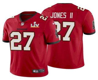 Men's Tampa Bay Buccaneers #27 Ronald Jones II Red 2021 Super Bowl LV Limited Stitched NFL Jersey