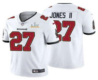Men's Tampa Bay Buccaneers #27 Ronald Jones II White 2021 Super Bowl LV Limited Stitched NFL Jersey
