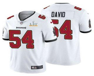 Men's Tampa Bay Buccaneers #54 Lavonte David White 2021 Super Bowl LV Limited Stitched NFL Jersey