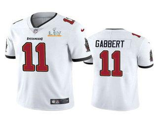 Men's Tampa Bay Buccaneers #11 Blaine Gabbert White 2021 Super Bowl LV Limited Stitched NFL Jersey