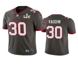 Men's Tampa Bay Buccaneers #30 Ke'Shawn Vaughn Grey 2021 Super Bowl LV Limited Stitched NFL Jersey