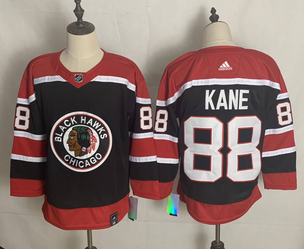 Men's Chicago Blackhawks #88 Patrick Kane Black 2021 Retro Stitched NHL Jersey