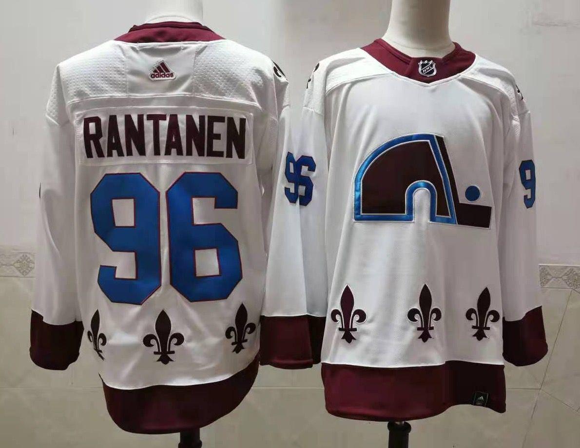 Men's Colorado Avalanche #96 Mikko Rantanen White 2021 Retro Stitched NHL Jersey