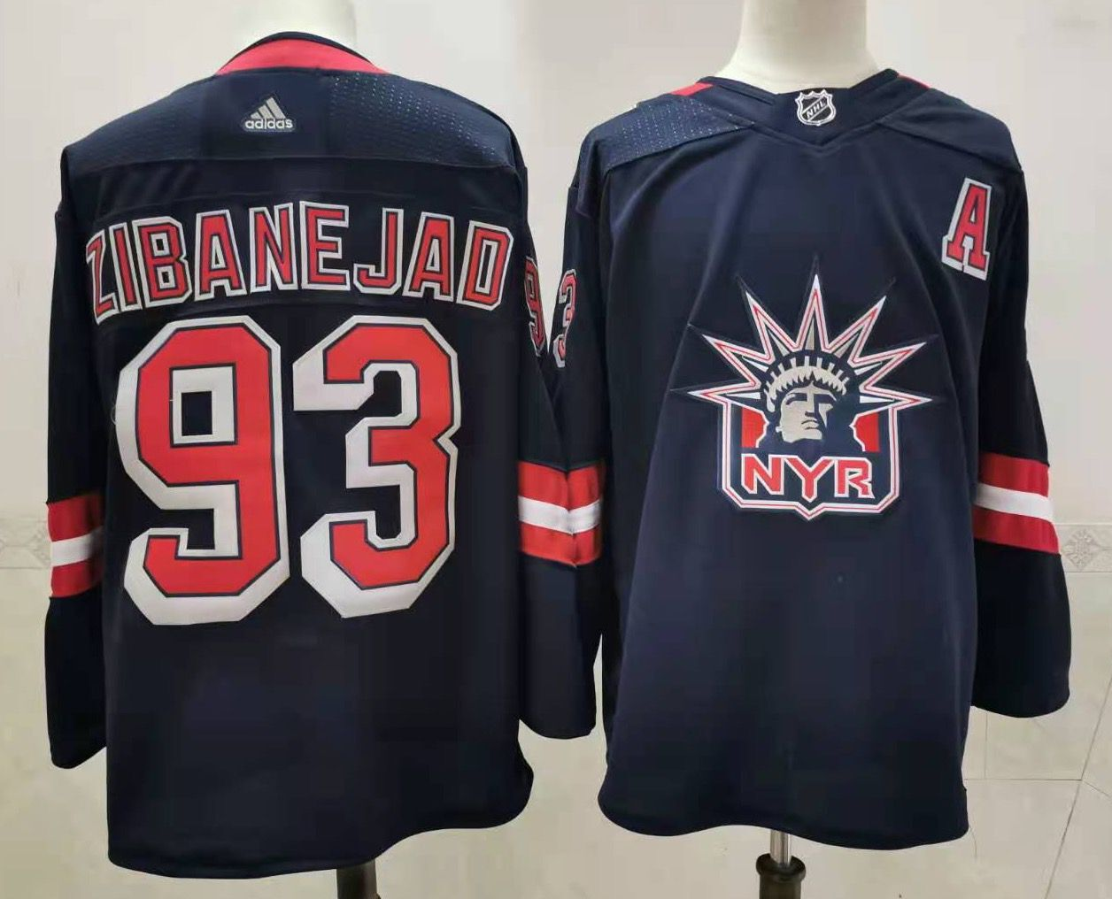 Men's New York Rangers #93 Mika Zibanejad Navy Blue Adidas 2020-21 Stitched NHL Jersey
