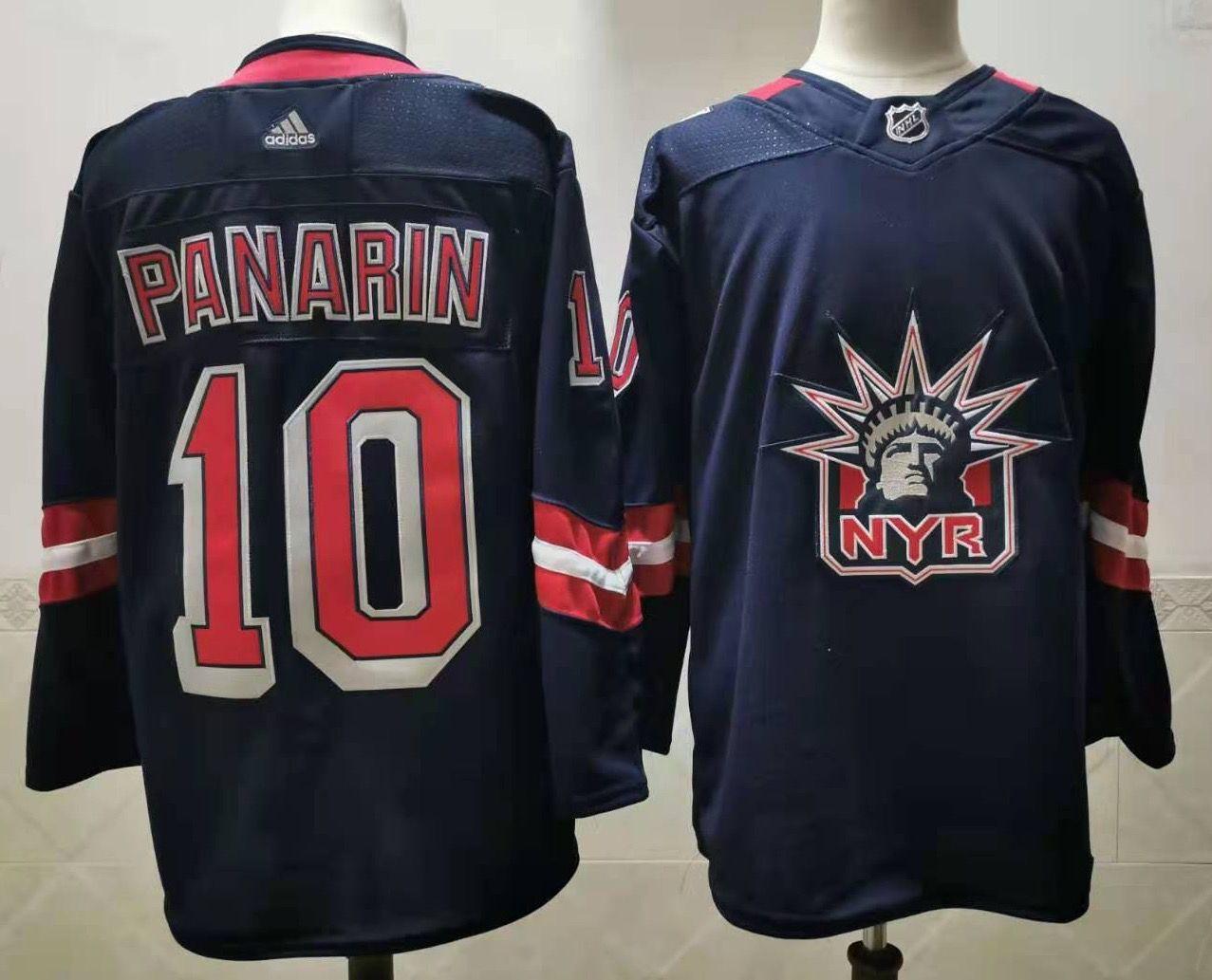 Men's New York Rangers #10 Artemi Panarin Navy Blue Adidas 2020-21 Stitched NHL Jersey