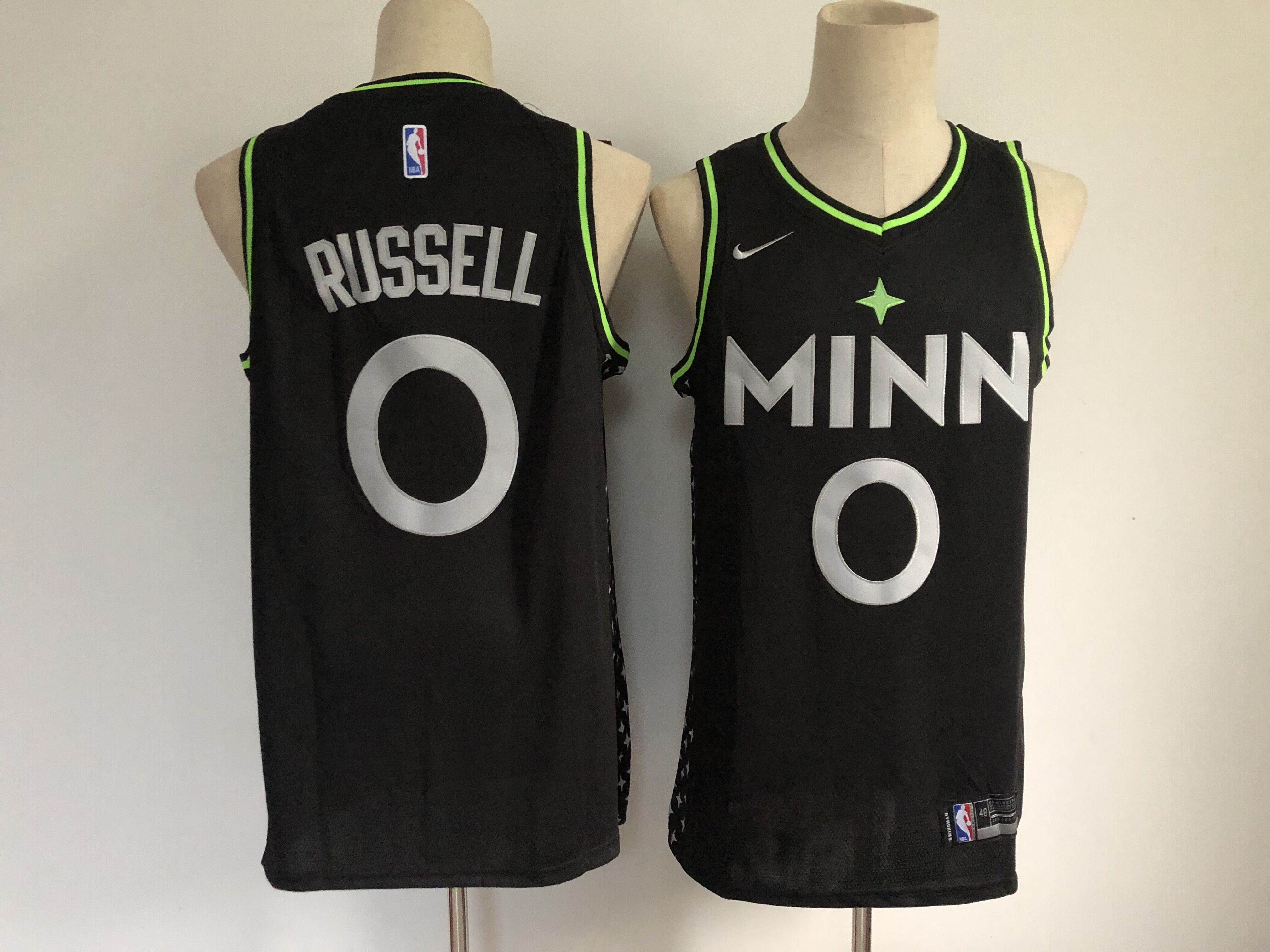 Men's Minnesota Timberwolves #0 D'Angelo Russell Black 2021 Nike City Edition Swingman Stitched NBA Jersey