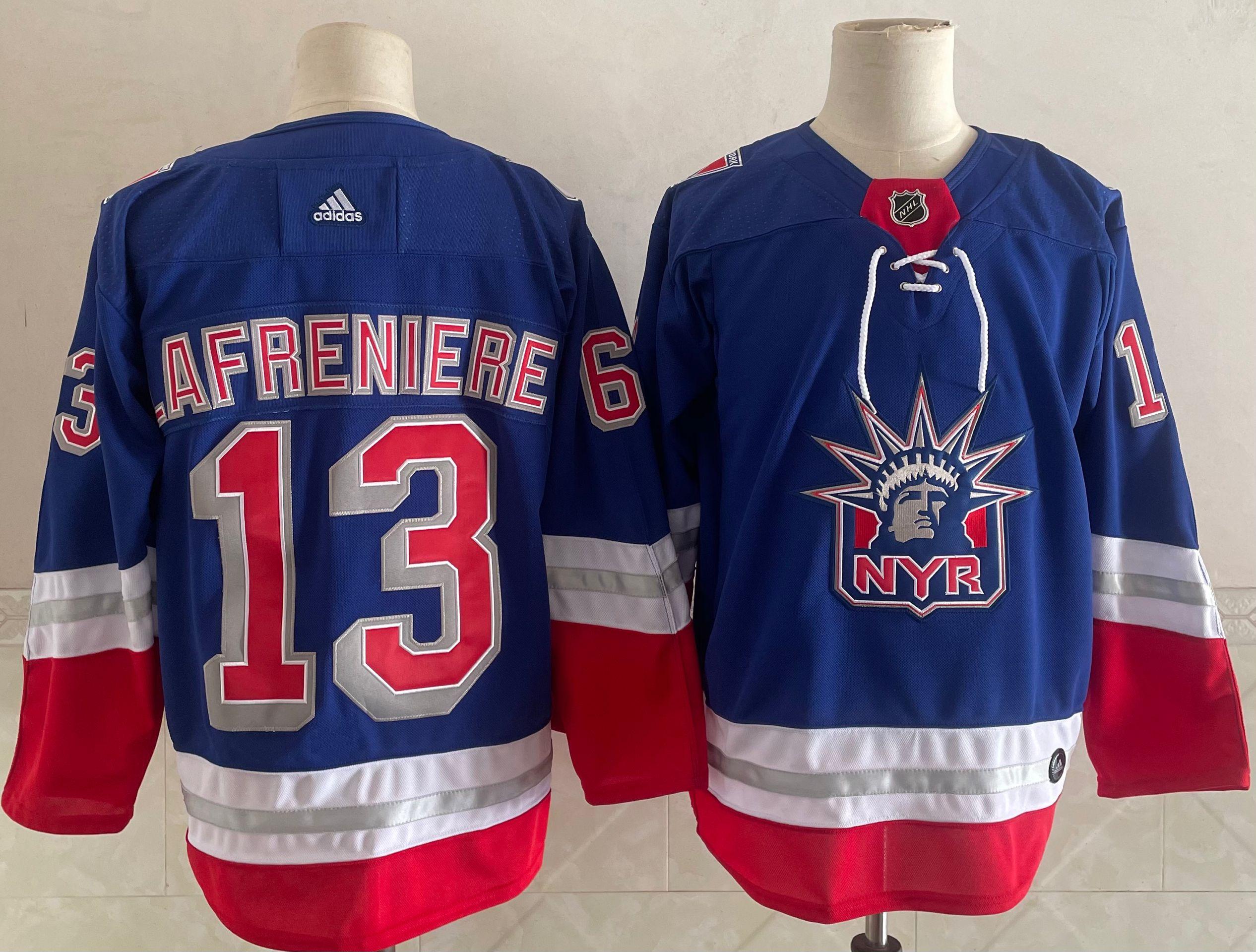 Men's New York Rangers #13 Alexis Lafreniere Light Blue 2021 Retro Stitched NHL Jersey