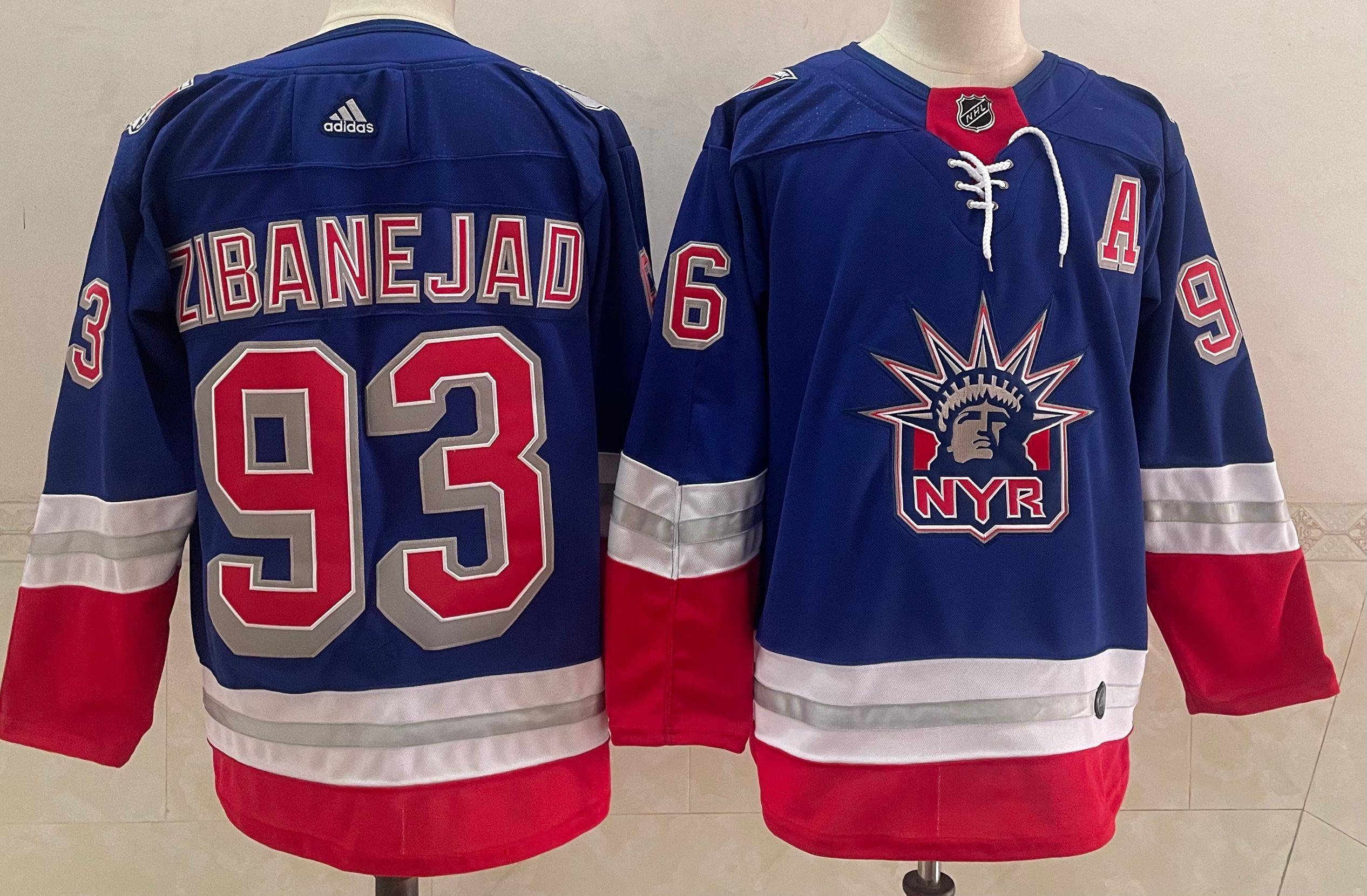 Men's New York Rangers #93 Mika Zibanejad Light Blue 2021 Retro Stitched NHL Jersey