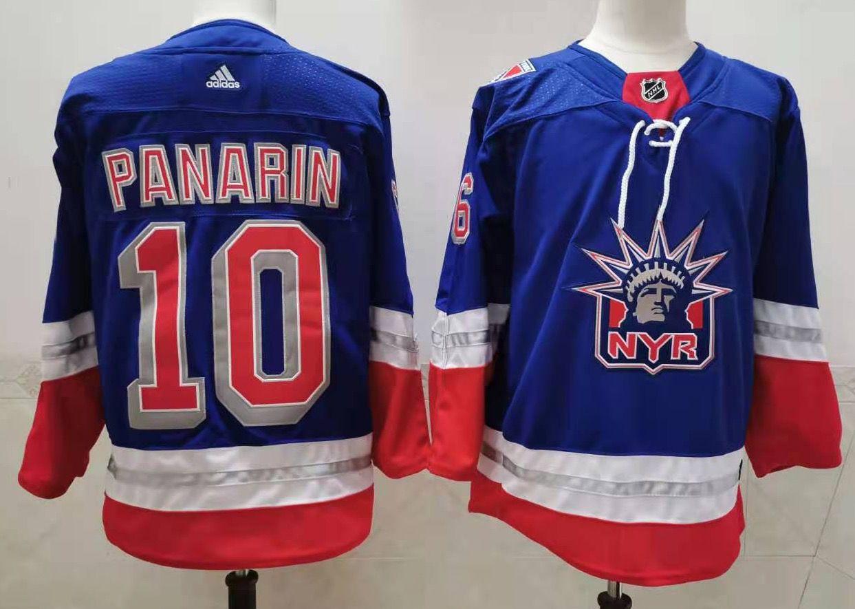 Men's New York Rangers #10 Artemi Panarin Light Blue 2021 Retro Stitched NHL Jersey