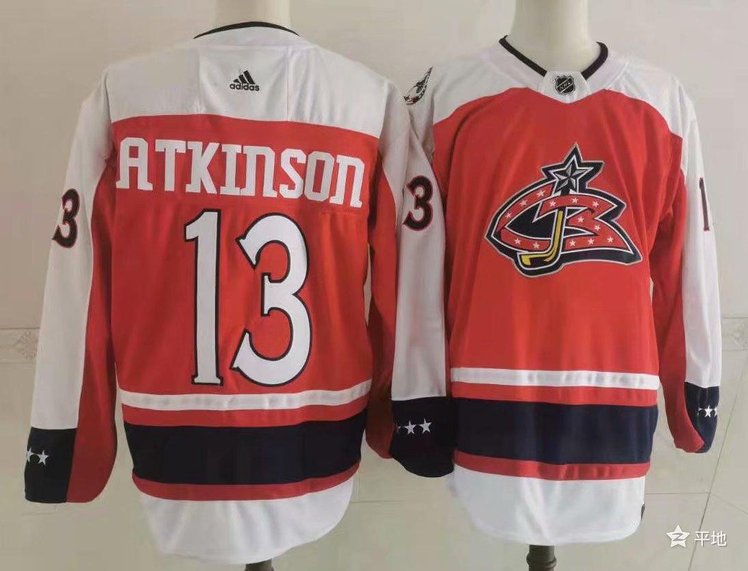 Men's Columbus Blue Jackets #13 Cam Atkinson Orange 2021 Retro Stitched NHL Jersey