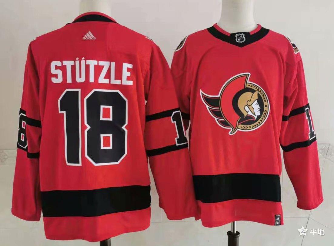 Men's Ottawa Senators #18 Tim Stutzle Red 2021 Retro Stitched NHL Jersey