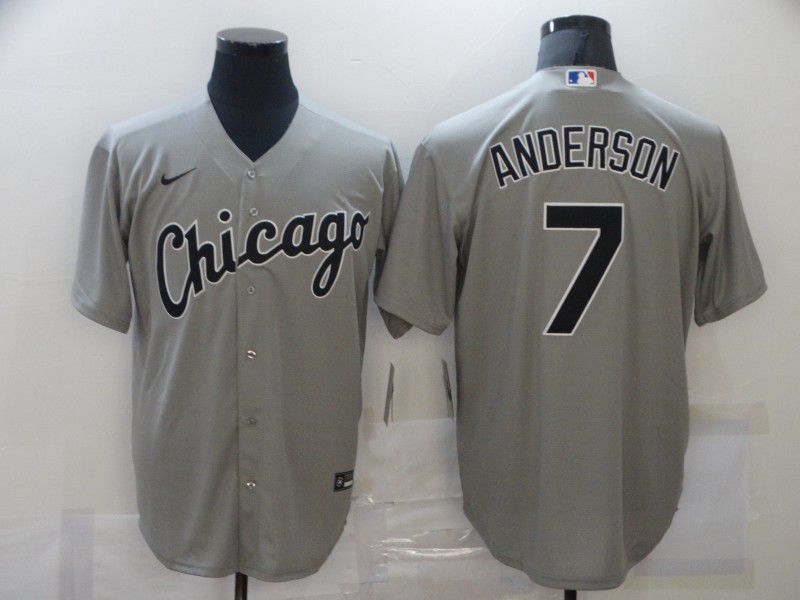 Men's Chicago White Sox #7 Tim Anderson Grey Stitched MLB Cool Base Nike Jersey
