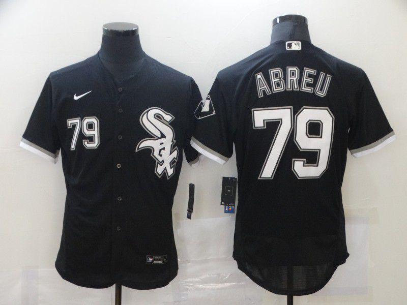 Men's Chicago White Sox #79 Jose Abreu Black Stitched MLB Flex Base Nike Jersey