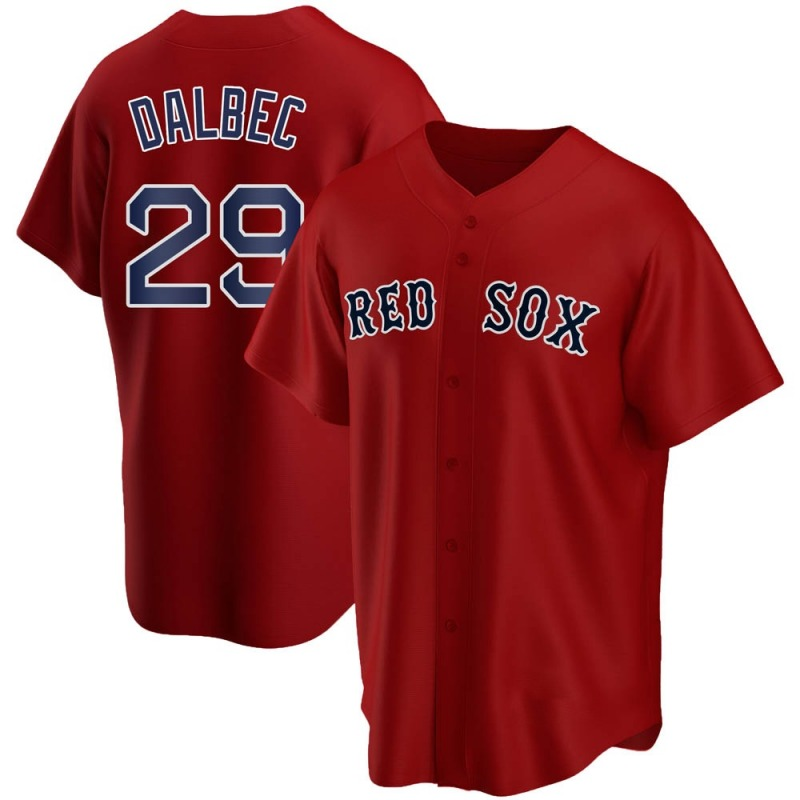 Men's Boston Red Sox #29  Bobby  Dalbec Red Stitched MLB Cool Base Nike Jersey