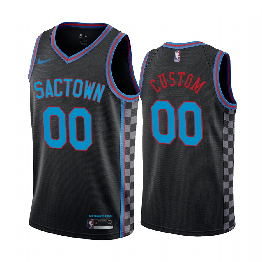 Men's Nike Kings Custom Personalized Black NBA Swingman 2020-21 City Edition Jersey