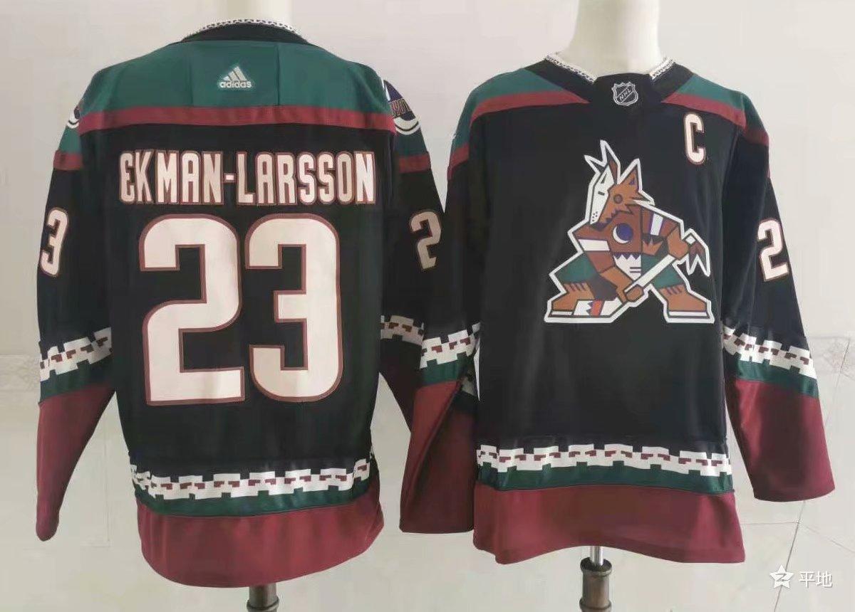 Men's Arizona Coyotes #23 Oliver Ekman-Larsson Throwback Kachina Black Jersey