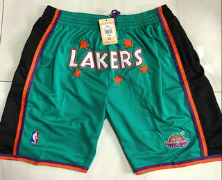 Men's Los Angeles Lakers Green Just Don Swingman Throwback Shorts