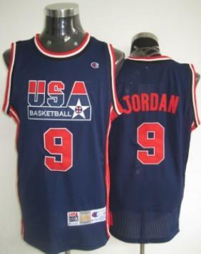 Big Size 1992 Olympics Team USA #9 Michael Jordan Navy Blue Swingman Jersey