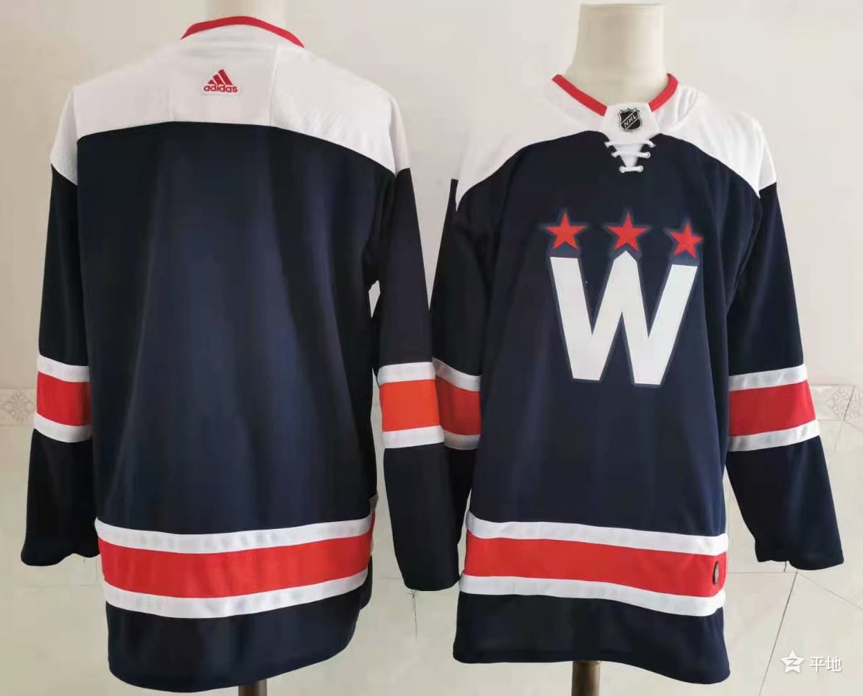 Men's Washington Capitals Blank NEW Navy Blue Adidas Stitched NHL Jersey