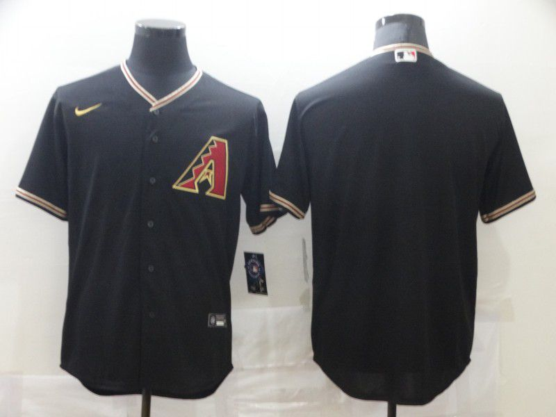 Men Arizona Diamondback Blank Black Game Nike MLB Jerseys