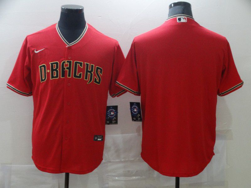 Men Arizona Diamondback Blank Red Game Nike MLB Jerseys