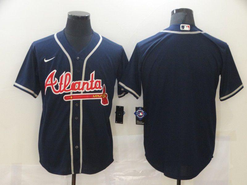 Men Atlanta Braves Blank Blue Game Nike MLB Jerseys