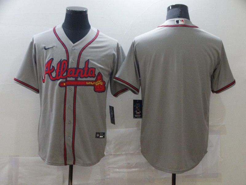 Men Atlanta Braves Blank Grey Game Nike MLB Jerseys