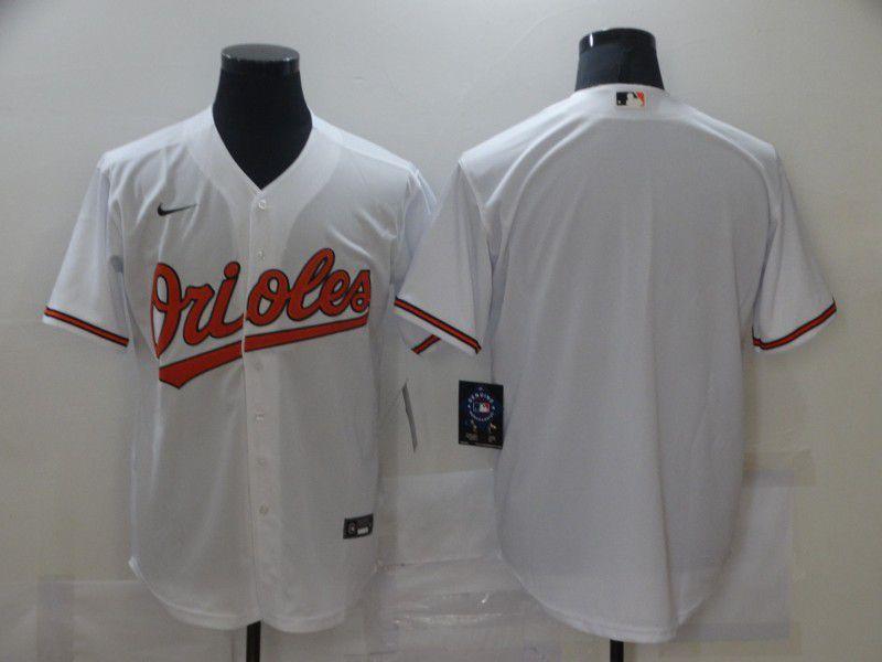 Men Baltimore Orioles Blank White Game Nike MLB Jerseys