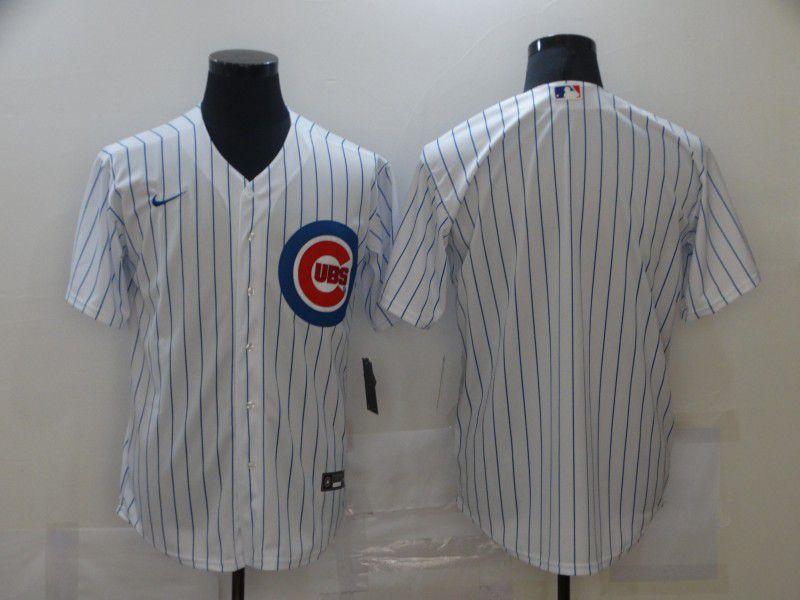 Men Chicago Cubs Blank White Game Nike MLB Jerseys