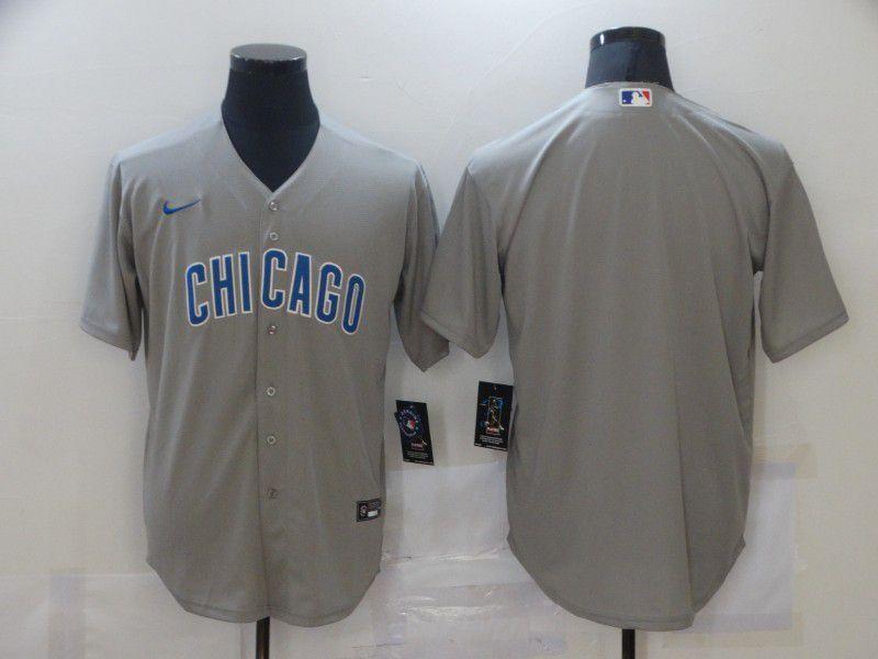 Men Chicago Cubs Blank Grey Game Nike MLB Jerseys