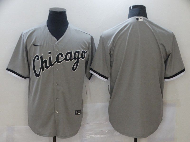 Men Chicago White Sox Blank Grey Game Nike MLB Jerseys