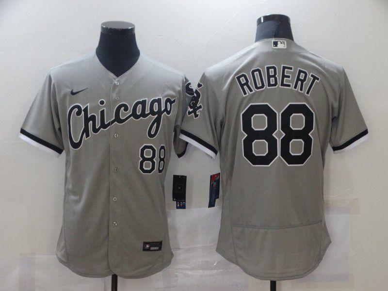 Men Chicago White Sox 88 Robert Grey Elite Nike MLB Jerseys