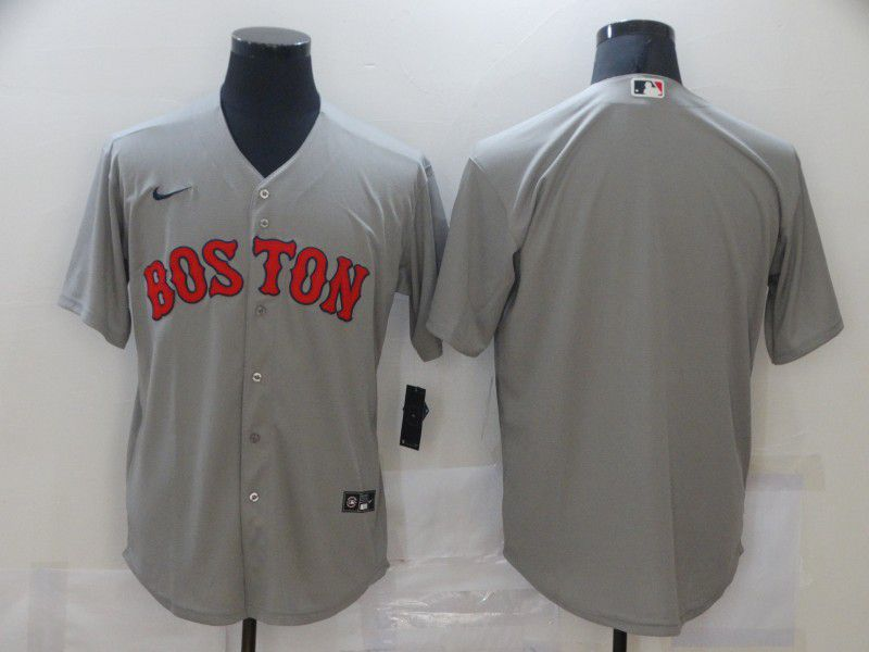 Men Boston Red Sox Blank Grey Game Nike MLB Jerseys